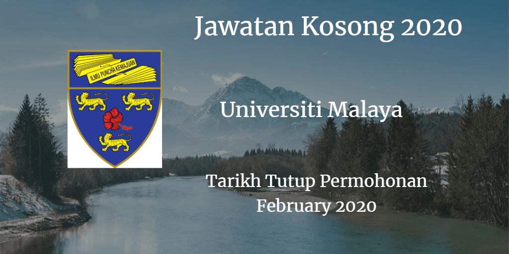 Jawatan Kosong UM February 2020