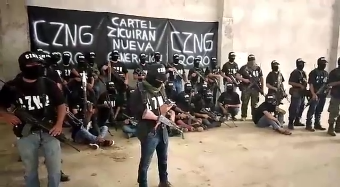 Vídeo; Se Presenta y Surge en Michoacán el CZNG Cartel Zicuiran Nueva Generación aliados del CJNG