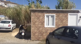 Βίντεο: Στη Μύκονο καμουφλάρουν τα κοντέινερ... με πέτρινες ταπετσαρίες!