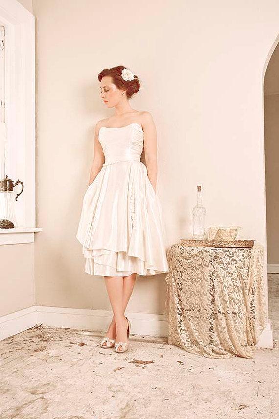 Tea Length Wedding Dress Green Shoes Pink Petticoat