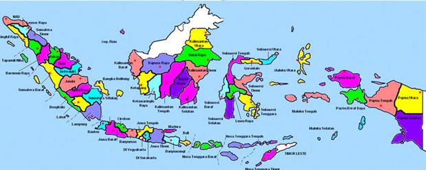 Free Download Vector Peta Indonesia 34 Provinsi Beserta Ibukotanya