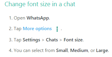 How to Change Font Size in WhatsApp Chat
