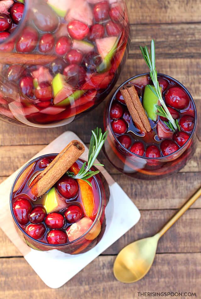 Easy & Festive Holiday Sangria Recipe