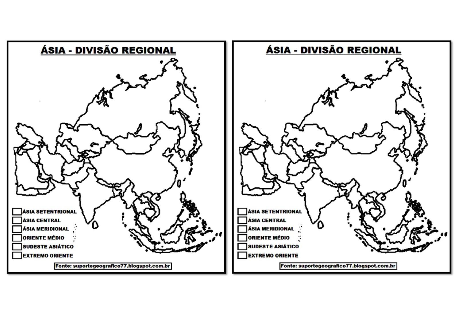 Atividades Com Mapas Sobre A Asia