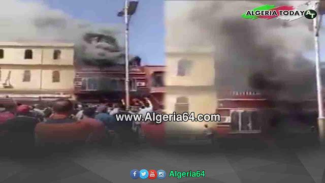 اندلاع حريق مهول بالمدينة الجديدة بوهران، وشاب يغامر بنفسه و ينقد امرأتين قبل وصول الحماية المدنية