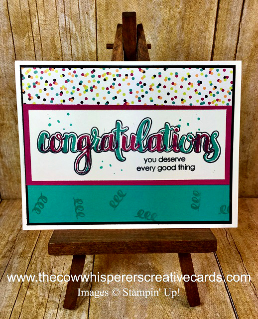 Card, Congratulations, Confetti. Celebrate