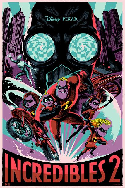 Incredibles 2 Mondo poster by Francesco Francavilla