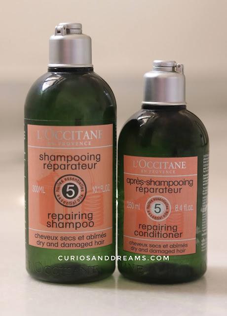L'Occitane Aromachologie Repairing Shampoo & Conditioner review, L'Occitane Repairing Shampoo & Conditioner review, L'Occitane Repairing Shampoo, L'Occitane Repairing Conditioner