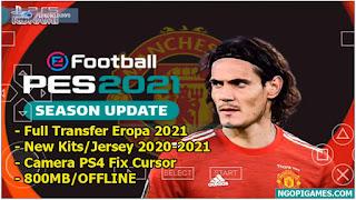 Download PES 2021 PPSSPP CHELITO V8 Special Manchester United Edinson Cavani
