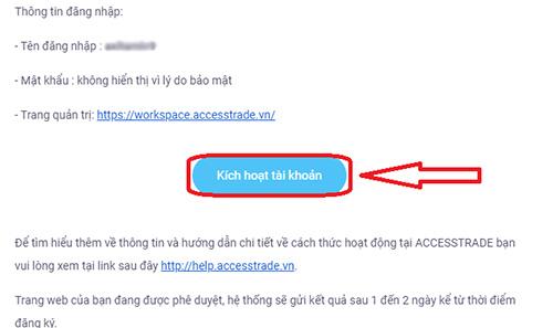 Kích hoạt tài khoản qua mail