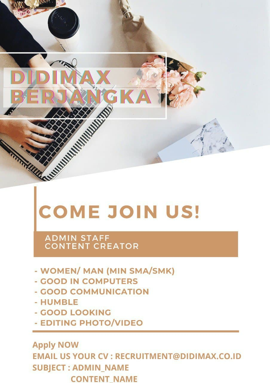 Lowongan Kerja PT. Didimax Berjangka Bandung Desember 2020