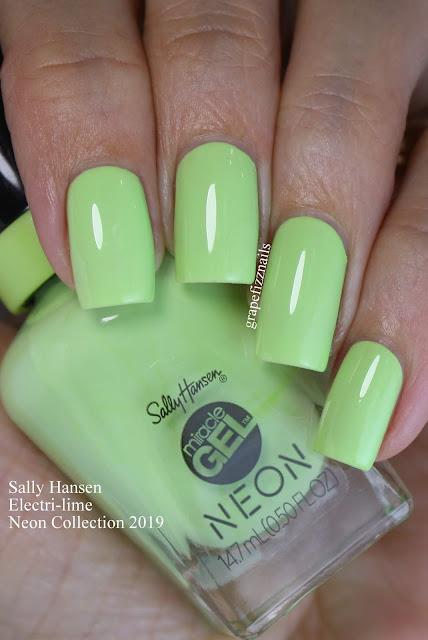Sally Hansen Electri-lime Neon Collection