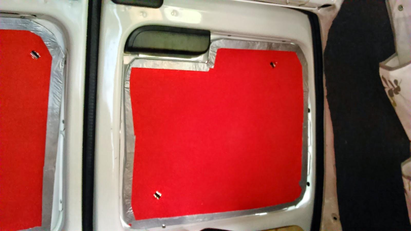 Micro Camper Conversion Citroen Berlingo Rear Window Covers