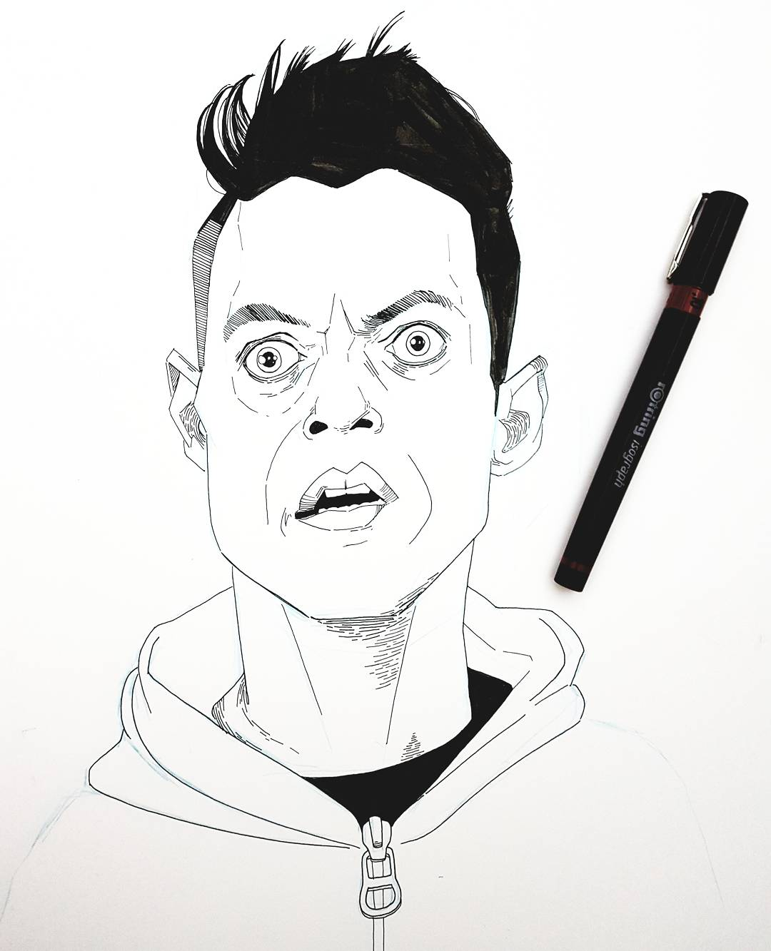 Mr Robot Elliot drawing