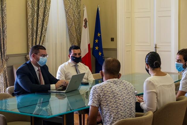 MaYA meeting with Hon. Aaron Farrugia