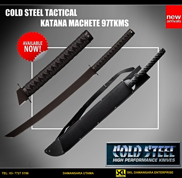 New Arrival!!Cold Steel Tactical Katana Machete 97TKMS