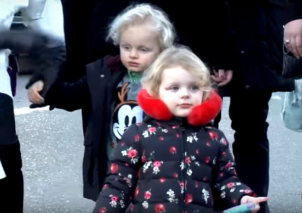 Prince Albert, Princess Charlene, Princess Gabriella and Prince Jacques visited Teleton and Christmas Market