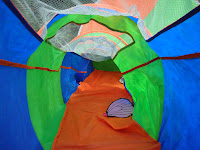 Chad Valley Concertina Play Tent. In the Tunnel.