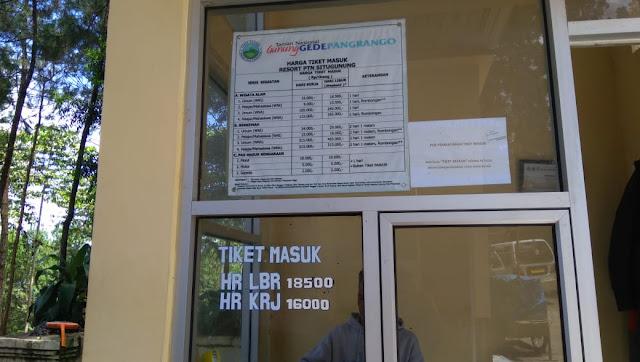 harga tiket masuk Jembatan gantung Situ Gunung Sukabumi