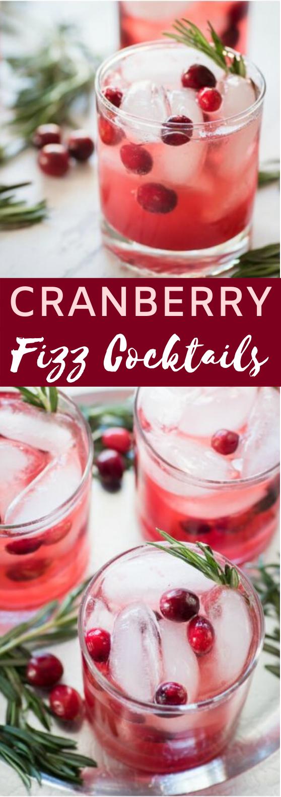 Cranberry Fizz Cocktail #cocktails #alcohol #christmas #drinks #punch