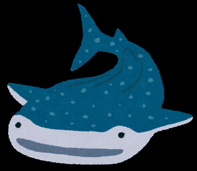 「ジンベイザメ イラスト フリー」の画像検索結果