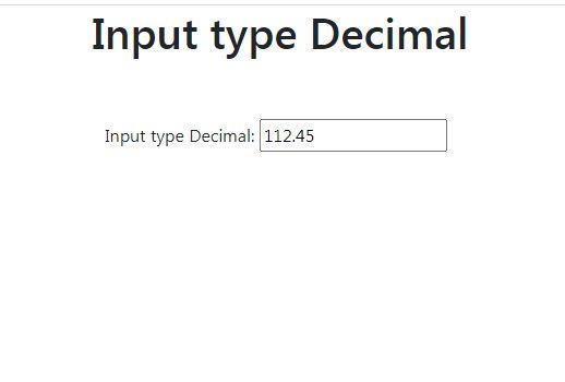 HTML5 Decimal input type