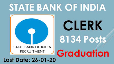 SBI Clerk Recruitment 2020 Apply Online For 8134 Vacancies