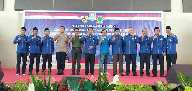 Pelantikan DPD KNPI Kabupaten Banyuasin Periode 2020-2023