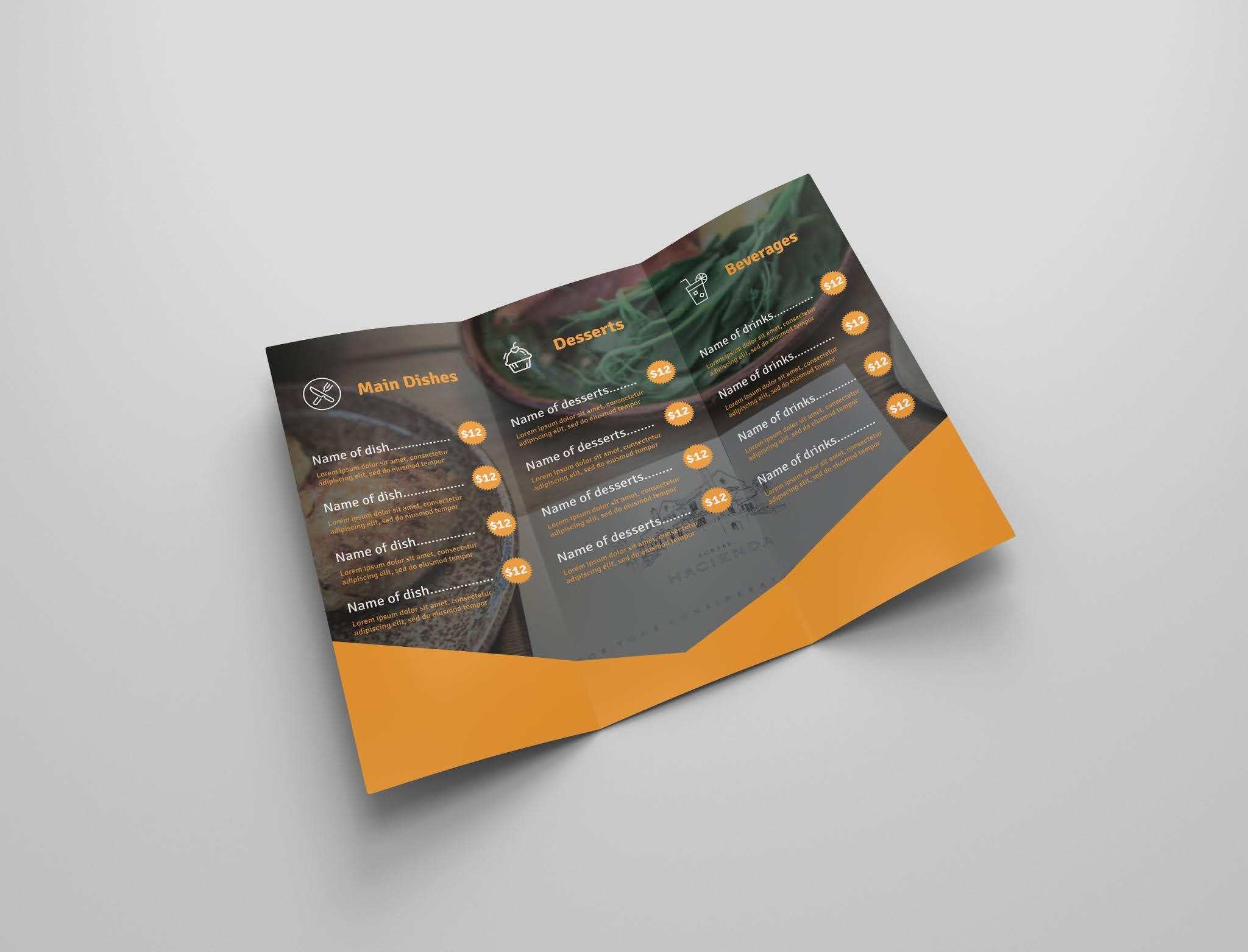 Download free restaurant brochure psd open source menu food psd free download 4