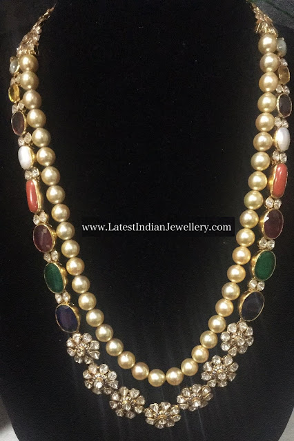 Navrathan Pearls Chic Necklace
