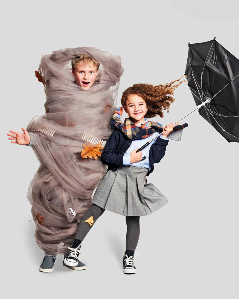 kids in storm chaser and tornado halloween costumes