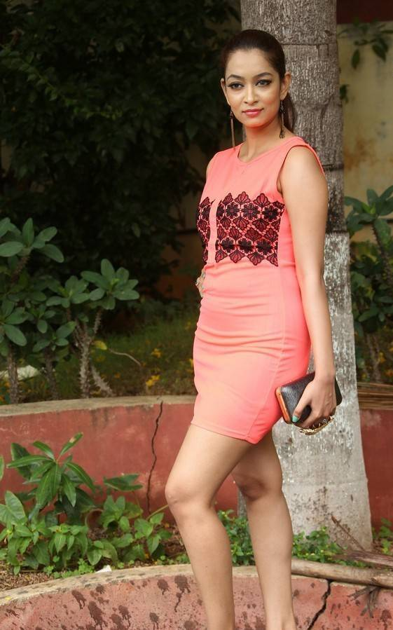Actress Rashmi Thakur Latest Cute Hot Orange Red Mini Skirt Dress Spicy Thighs Show Photos Gallery