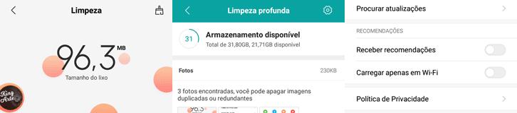 Desativar anúncios do aplicativo Limpeza Xiaomi