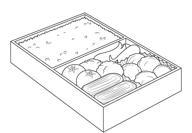 Makanan anime dalam gambar menggambar kotak makan siang
