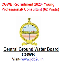 CGWB Recruitment 2020, Young Professional, Consultant