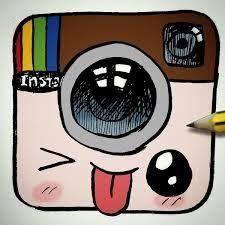 Instagram LOGO Desenho Tumblr Kawaii