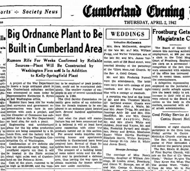 Cumberland Evening Times, 2 April 1942 worldwartwo.filminspector.com