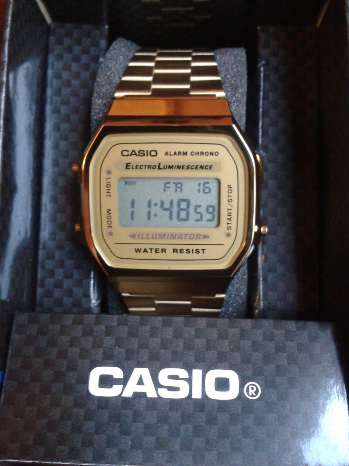 203f13b5fa53 Mis Articulos  Reloj Casio Original Dorado Modelo A168WG-9EF