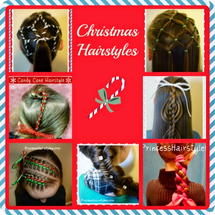 Christmas hairstyles and tutorials