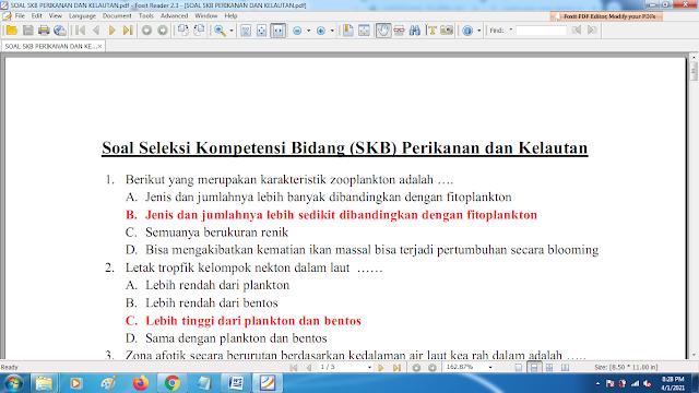 Download contoh soal pppk skb perikanan dan kelautan dan kunci jawaban