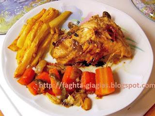 Κοτόπουλο τηγανιτό με λαχανικά - από «Τα φαγητά της γιαγιάς»