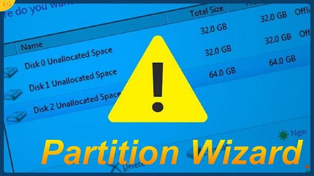 حل مشكلة partition wizard cannot create a partition at here