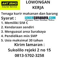 Lowongan Kerja Surabaya di Anterno Courier Service Oktober 2020