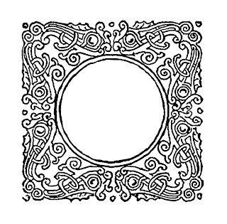 frame decorative flourish design floral illustration image