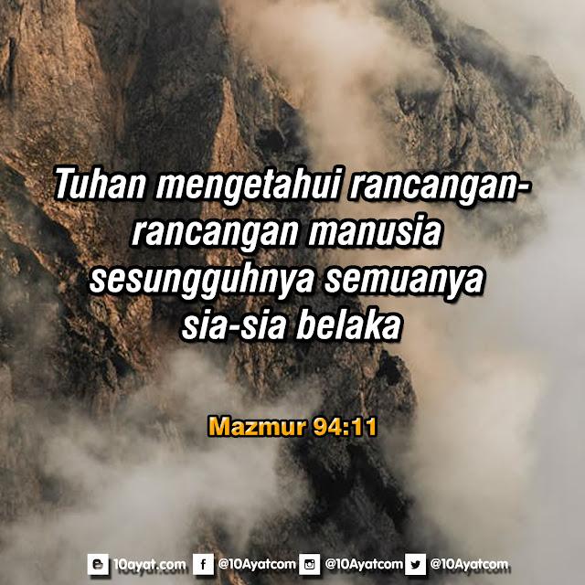 Mazmur 94:11
