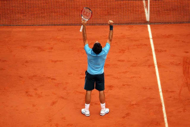 PHOTO: Roger Federer's French Open win sealed his career Grand Slam. (Clive Brunskill: Getty Images)
