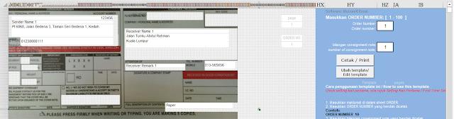 Template Skynet Microsoft Excel