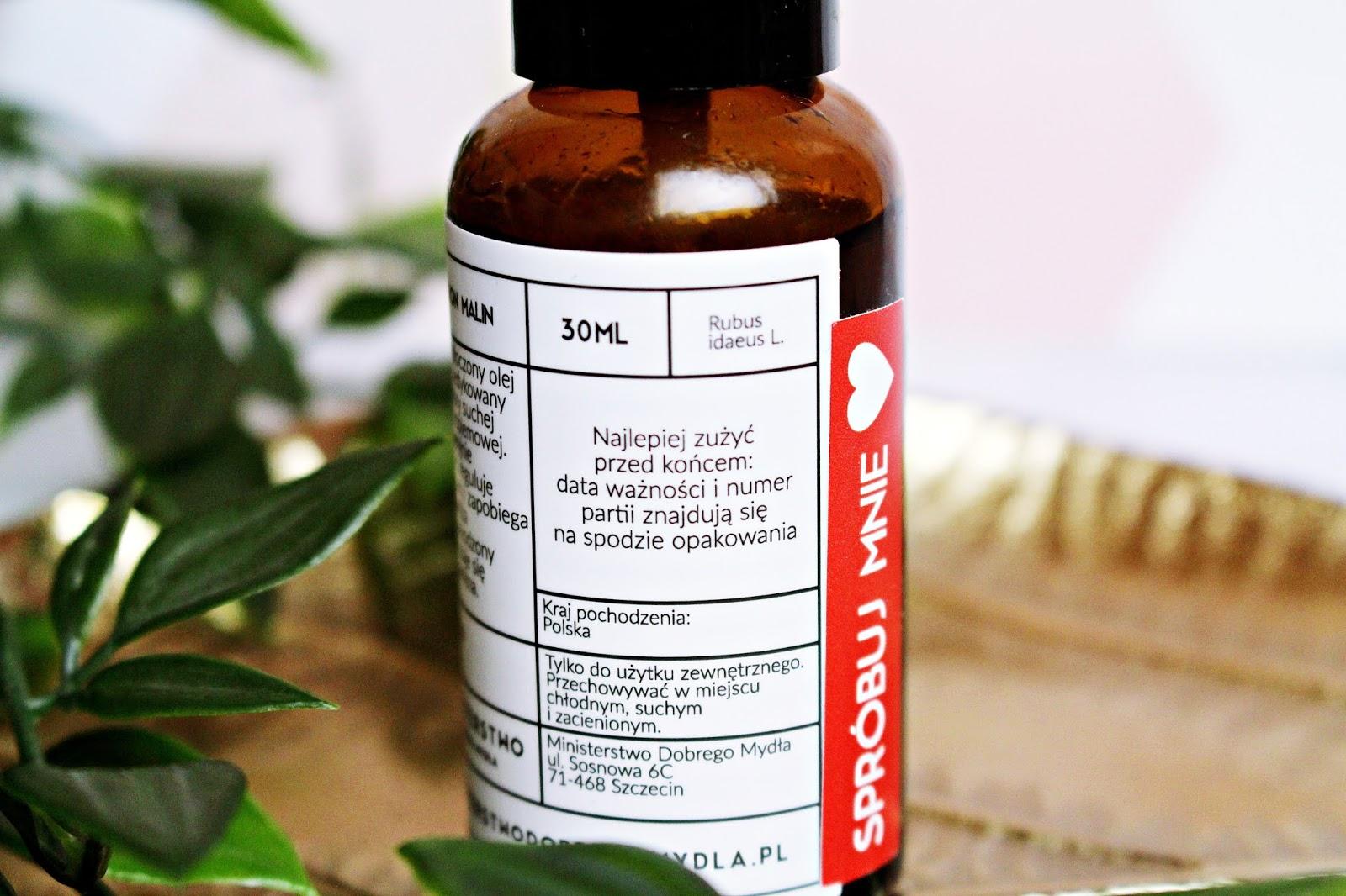 Olej z nasion malin Ministerstwo Dobrego Mydła