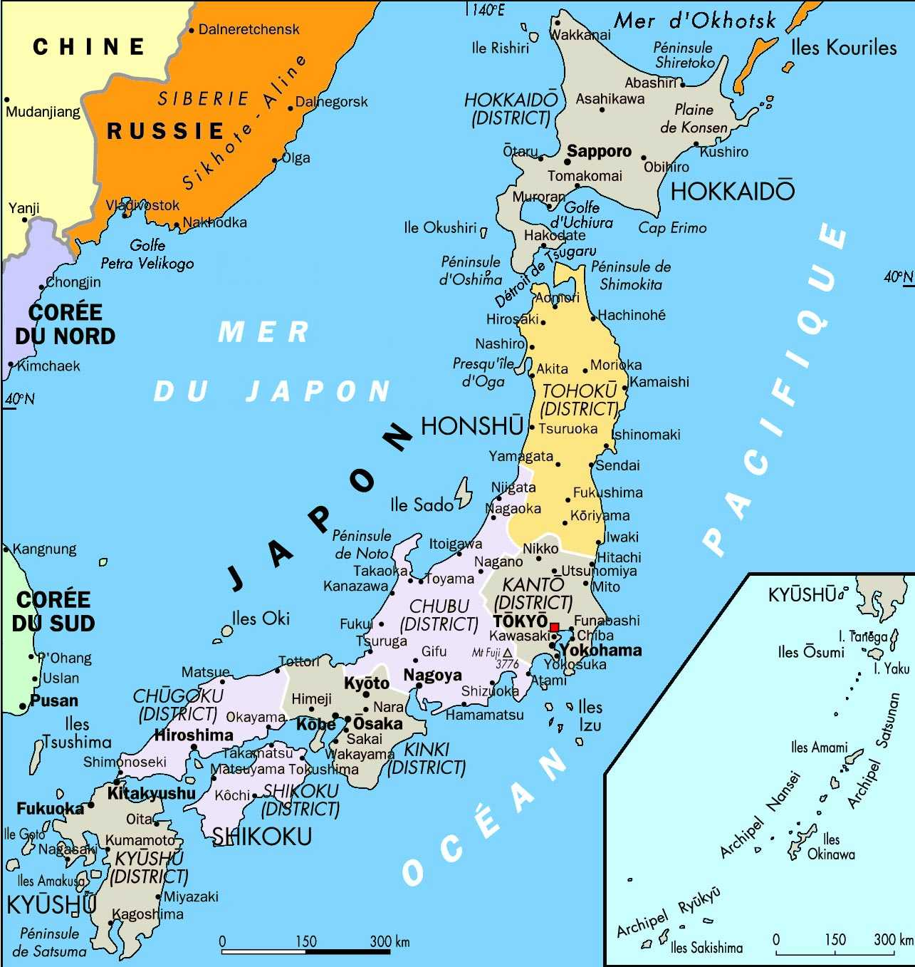 Japão | Mapas Geográficos do Japão