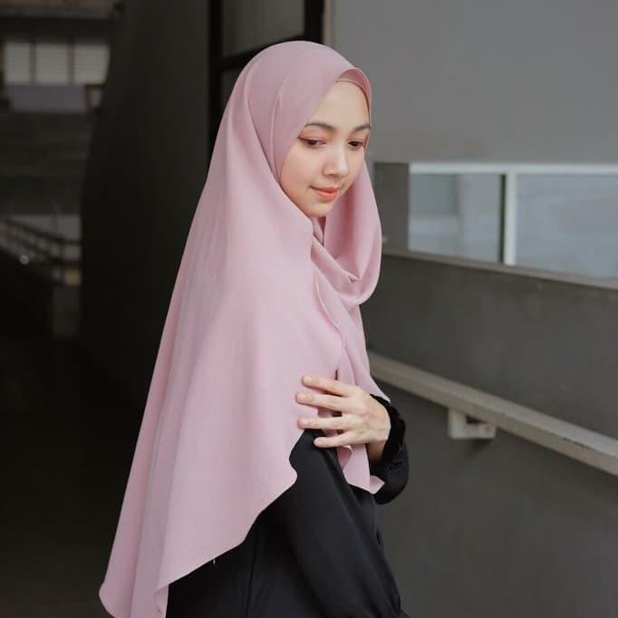 Jilbab Pashmina Instan Syari Jumbo Premium Venus Pink